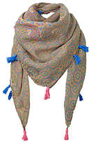 Fat Face Girls' Giraffe Tile Square Scarf, Khaki