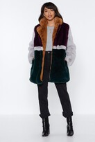 Nasty Gal You've Met Your Patch Faux Fur Coat