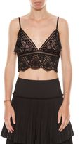 Alberta Ferretti Bra Crop Top In Macramè Lace