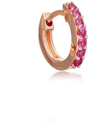 Astley Clarke Mini Halo Pink Sapphire Single Hoop Earring