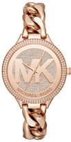 Michael Kors Slim Runway Twist Rose Goldtone Bracelet Watch