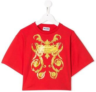 MOSCHINO BAMBINO baroque print T-shirt
