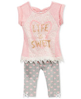Nannette 2-Pc. Life Is Sweet Tunic & Capri Leggings Set, Baby Girls (0-24 months)