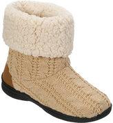 Dearfoams Women's Cable Knit Boot Slipper with Memory Foam