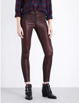 Paige Verdugo super-skinny high-rise leather jeans