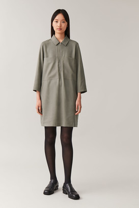 Cos Zip-Up Shirt Dress