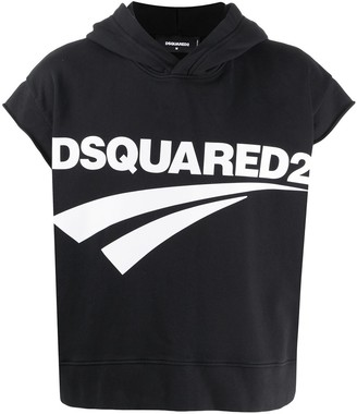 DSQUARED2 Short-Sleeved Hooded Sweatshirt