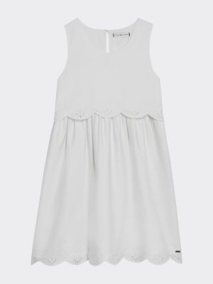 Tommy Hilfiger Pure Cotton Broderie Anglaise Dress