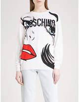 Moschino Pop art-print wool jumper