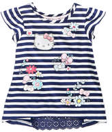 Hello Kitty Striped Printed Inset Top, Toddler Girls