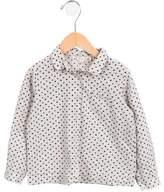 Bonpoint Girls' Polka Dot Button-Up Top