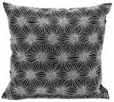 Nourison Michael Amini Beaded Sun Stars Square Throw Pillow in Black