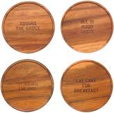 Kate Spade All in Good Taste 4-Piece Wood Coaster Set