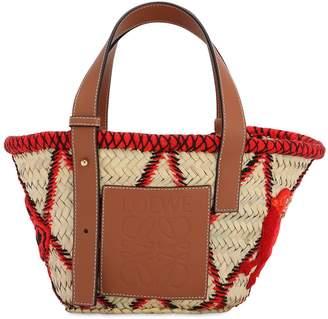 Loewe SMALL WOVEN STRAW BASKET BAG