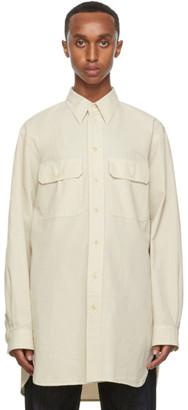 Lemaire Off-White Denim Military Shirt