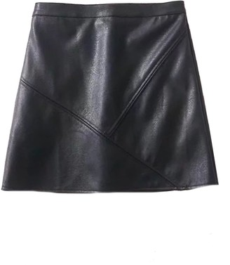 Goodnight Macaroon 'Peyton' Faux Leather Mini Skirt (4 Colors)