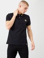 Pretty Green Tipped Collar Polo Shirt - Black