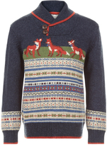 Monsoon Frankie Fox Shawl Collar Jumper