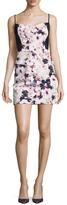 Black Halo Sonja Cotton Floral Print Mini Dress