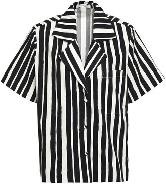Beaufille Oversized Striped Cotton-poplin Shirt