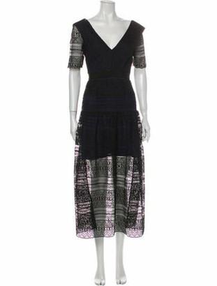 Self-Portrait Lace Pattern Long Dress w/ Tags Black