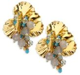 Miriam Haskell Swarovski Crystal Studded Earrings