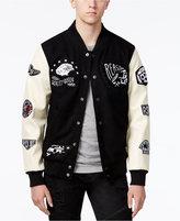 Reason Men's Varsity Bomber Jacket with Patches