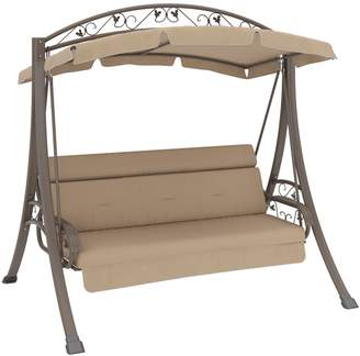 Corliving Nantucket Patio Swing with Arched Canopy