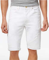 Sean John Men's Big & Tall Straight-Fit Stretch Cutoff Denim Moto Shorts