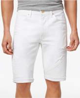 Sean John Men's Straight-Fit Stretch Cutoff Denim Moto Shorts