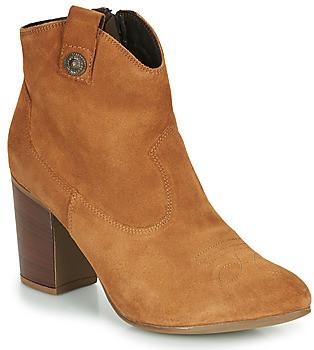Elue par nous FLYING women's Low Ankle Boots in Brown
