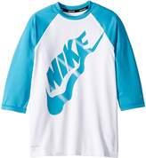 Nike Logo Half Sleeve Hydroguard Girl's Swimwear