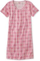L.L. Bean Supima Nightgown, Short-Sleeve Print