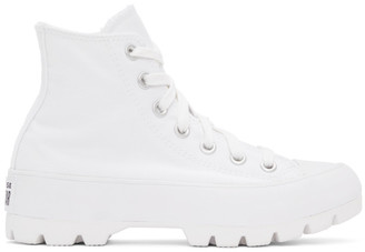 Converse White Lugged Chuck Taylor All Star Hi Sneakers