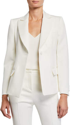 Emporio Armani Fitted Classic One-Button Gabardine Jacket