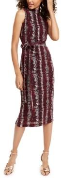Rachel Roy Snake-Embossed Midi Dress
