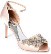 Badgley Mischka Light Pink Barker Ankle Strap d'Orsay Pumps