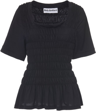 Molly Goddard Elba Smocked Cotton T-Shirt