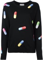 Moschino pill print jumper - women - Virgin Wool - XXS