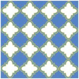 Caspari Casablanca Continuous Gift Wrapping Paper, 8-Feet, Blue, 1-Roll