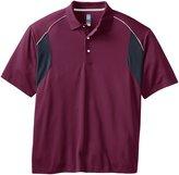 PGA TOUR Men's Big-Tall Golf Airflux Short Sleeve Color Block Polo Shirt