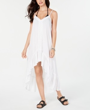 Raviya Crochet-Trim High-Low Cover-Up Dress Women's Swimsuit