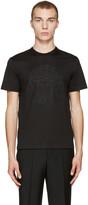 Versace Black Embroidered Medusa T-Shirt
