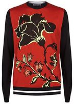 Mcq Alexander Mcqueen Floral Crew Neck Sweater