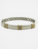 Lord & Taylor Diamond-Accented Two-Tone Bangle Bracelet