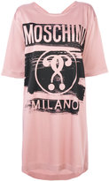 Moschino branded T-shirt dress - women - Acetate/Viscose/other fibers - 38