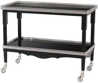 Ralph Lauren Home One Fifth Drinks Trolley - Black Lacquer/Silver