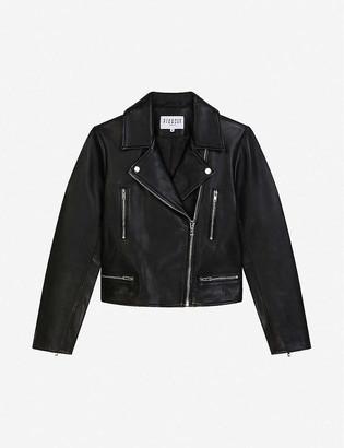 Claudie Pierlot Caisa leather biker jacket