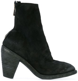 Guidi Slouch Zipped Ankle Boots