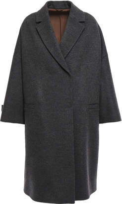 Brunello Cucinelli Bead-embellished Double-breasted Wool And Cashmere-blend Coat